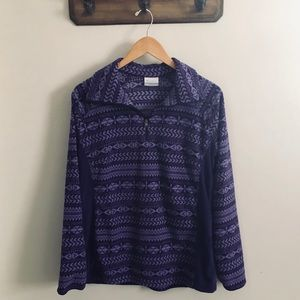 Columbia Purple Fleece 1/4 Zip